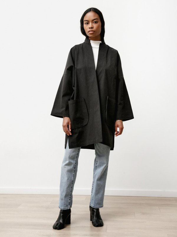 Priory Shop Stretch Poplin Range Jacket - Black