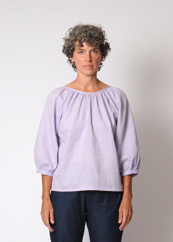 Conifer Reversible Gathered Top - Lavender