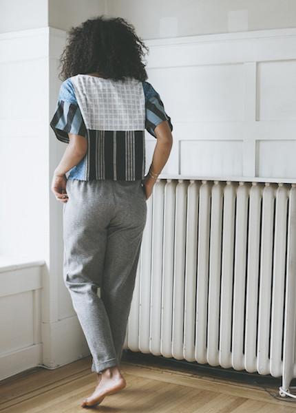 Me & Arrow Slim Cuff Pant - Fuzzy Grey