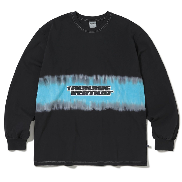 ThisIsNeverThat Striped Tiedye L/S Top - Black