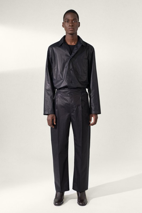 Lemaire Pleated drawstring pants - black