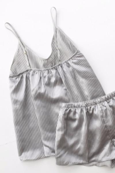 Salua Lingerie Striped Cotton-Silk Cami