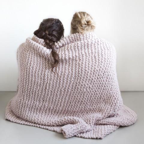 Zilalila Pink Garter Blanket - Dodo Les Bobos