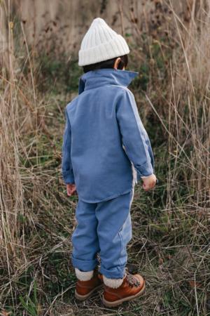 Kids Noble Organic Chore Jacket - Blue Moon