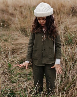 Kids Noble Organic Chore Jacket - Olive