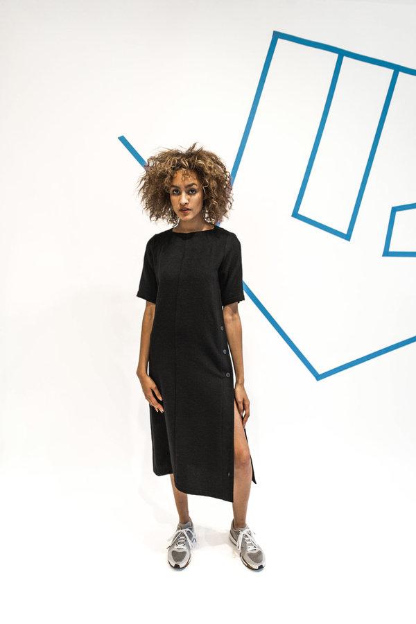 Wolcott : Takemoto Hamlet Dress - Black
