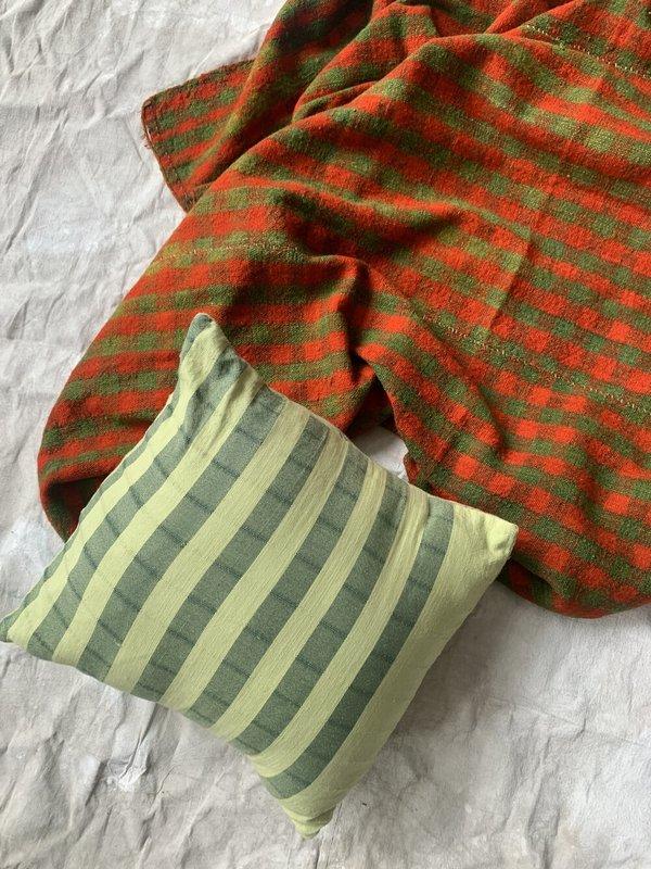 Cuttalossa & Co. Over Dyed Cotton Pillow - Avocado