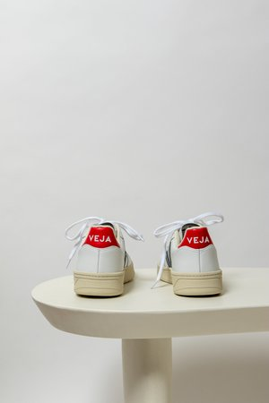 Veja V10 White Nautico - white/navy/red