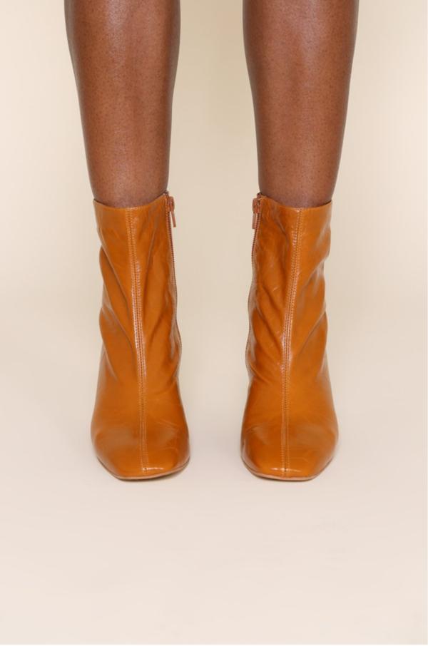 """INTENTIONALLY __________."" Etta Boots - Whiskey"