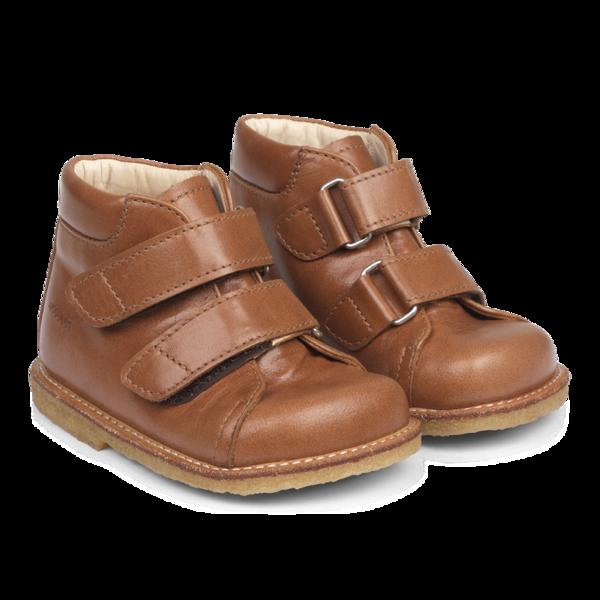 KIDS angulus starter velcro cognac boot - Brown
