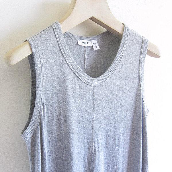 Wilt drop torso shell dress - grey heather