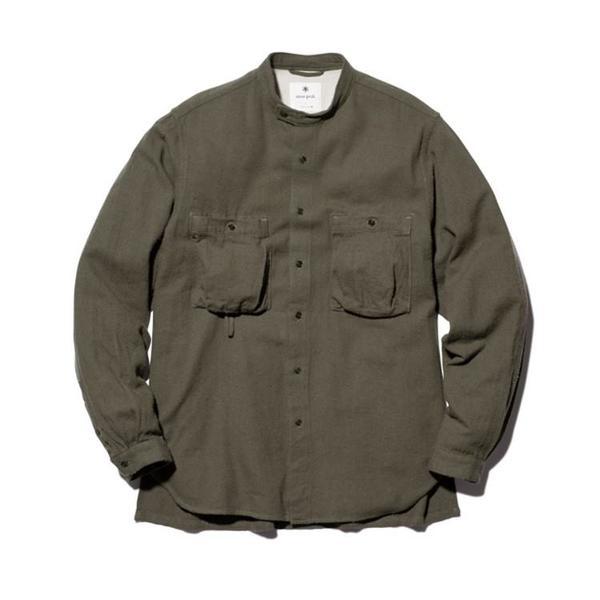 Snow Peak Cotton Silk Serge Shirt - Khaki