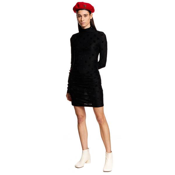 MISBHV Velour Monogram dress - black