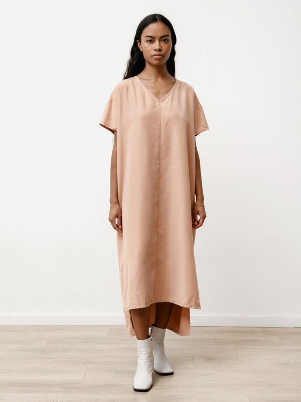Priory Spear Dress - Modal Dusty Pink
