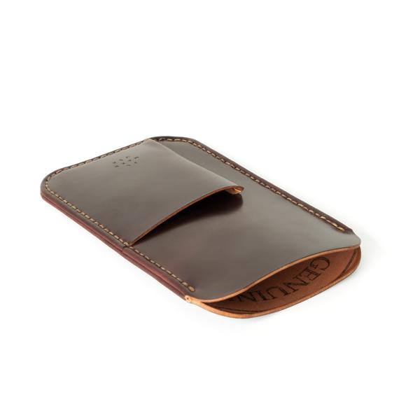 UNISEX makr Cordovan Card Holder iPhone Sleeve Case - Ox Blood