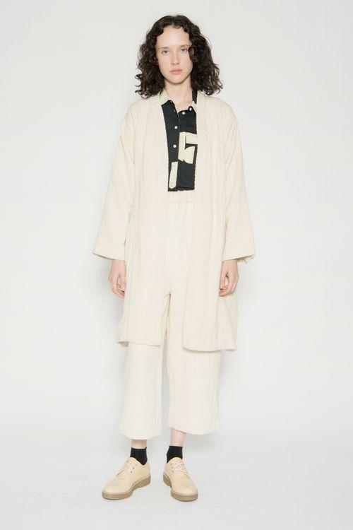 Wray Mantle Robe Coat - Black