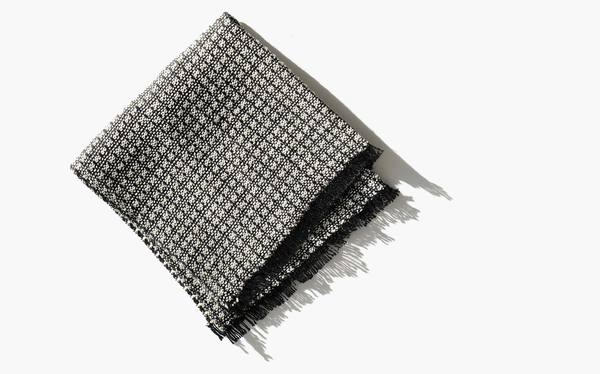 Kindred Black Linen Blend Basket Weave Face Cloth