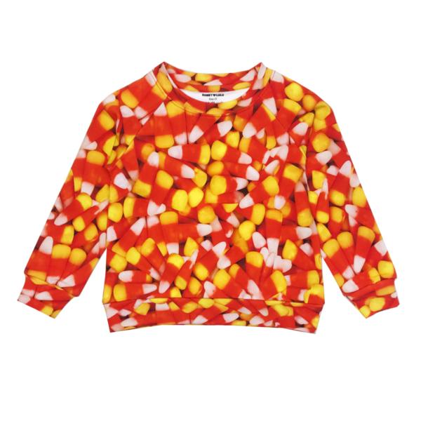 Unisex Romey Loves Lulu Candy Corn Adult Sweatshirt