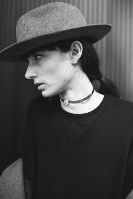 Tarin Thomas flattop andie choker - STERLING SILVER
