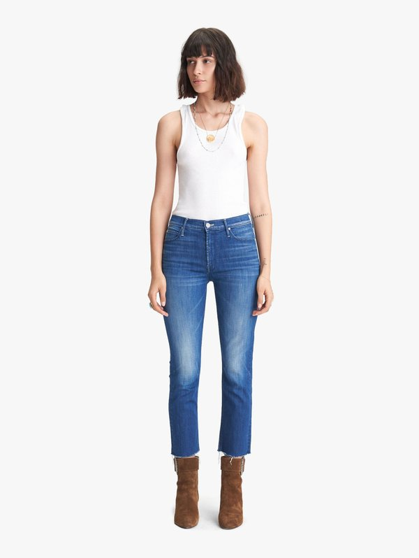 Mother Denim The Mid Rise Dazzler Crop Fray - Squeeze It