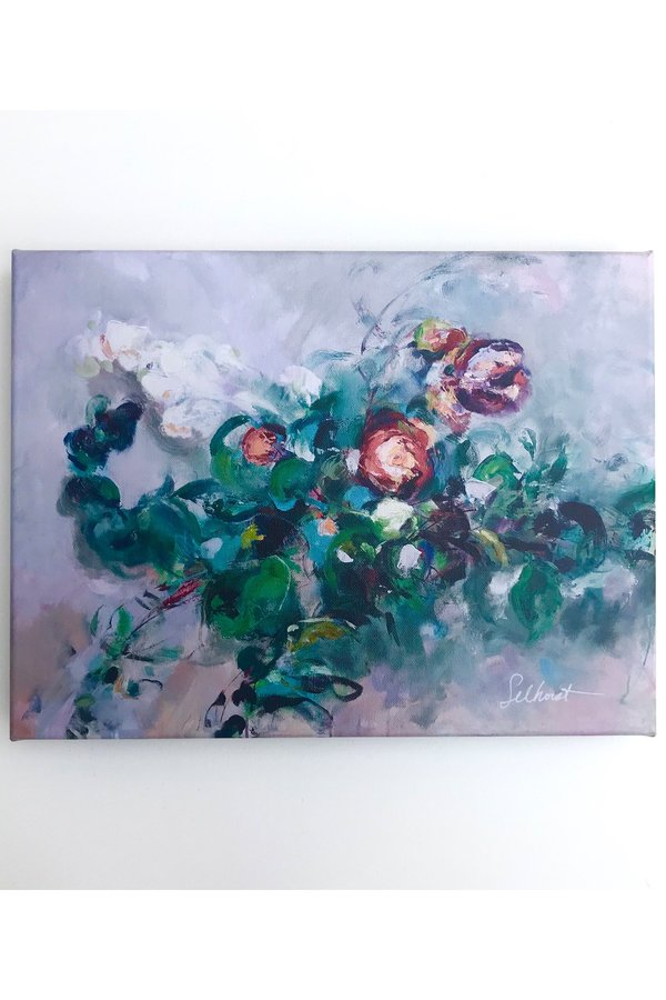 """Camille Selhorst Scent Of Roses Print On Canvas 12"""" X 16"""""""