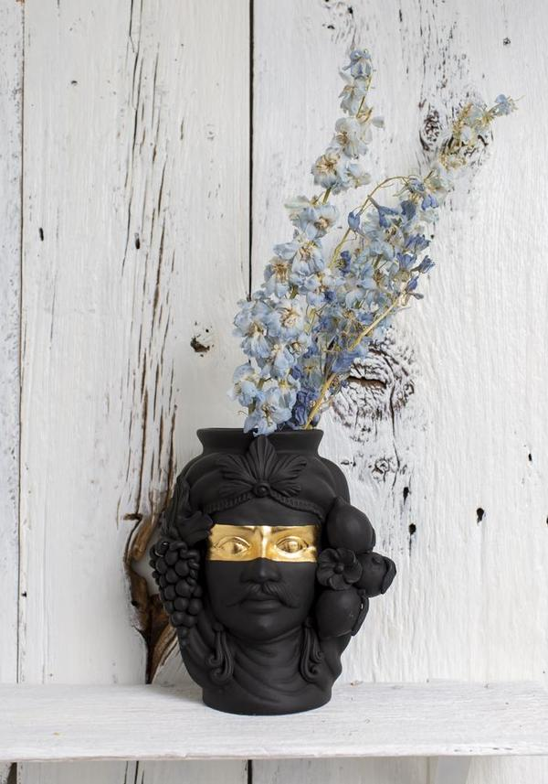December Thieves Sasa Ceramic Head Vase - Black