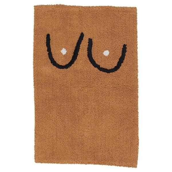 Cold Picnic Bathmat - Brown Boob