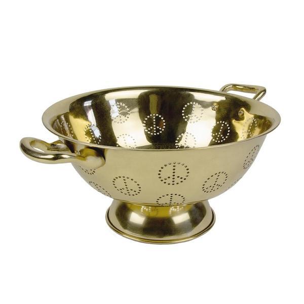 Sir/Madam Peace Colander - Brass
