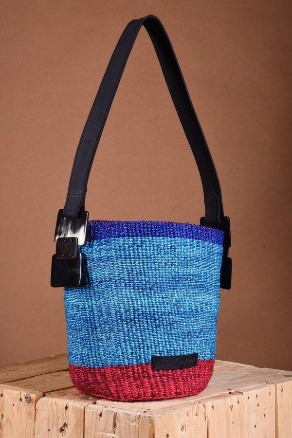 Spirit of the Earth Airi Mini Samawati Shoulder Bag - cobalt / aqua / vermillion red