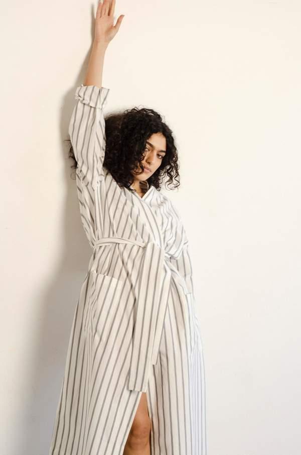 Unisex General Sleep Robe - Stripe