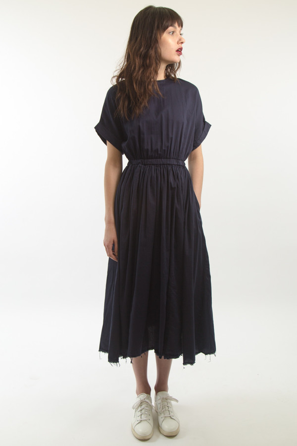 Black Crane Pleats Dress Garmentory