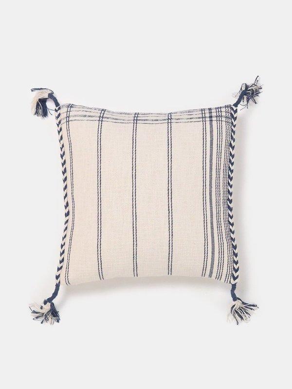 Erica Tanov yuba cotton throw pillow - natural/blue