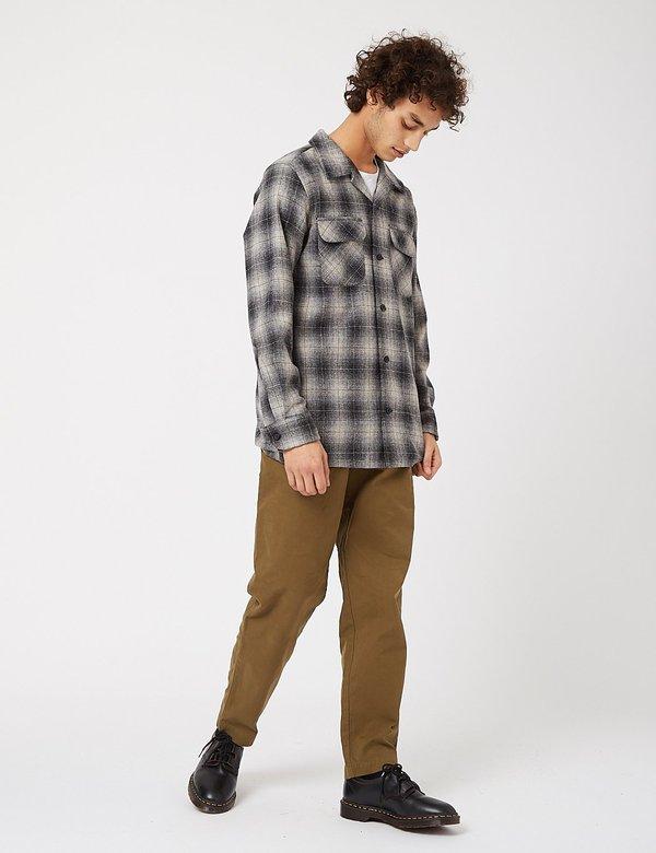 Pendleton Board Shirt - Grey/Black/Tan Ombre