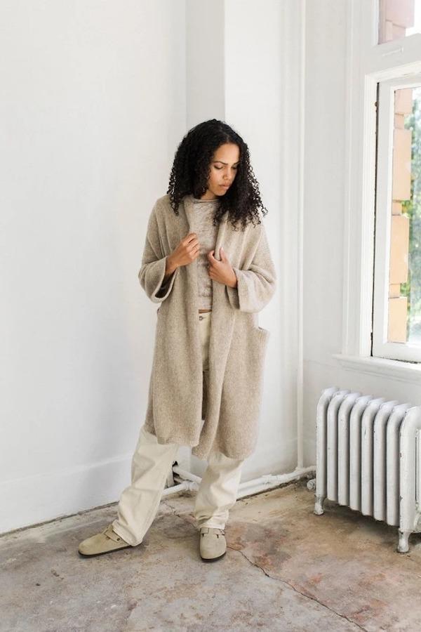 Bare Knitwear House Coat - Sand