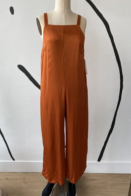 Whimsy + Row Isabella Jumpsuit - Shiny Rust