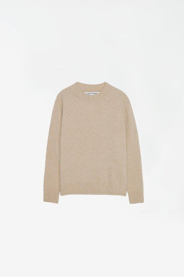 Schnayderman's seamless wool mohair Crewneck - beige melange