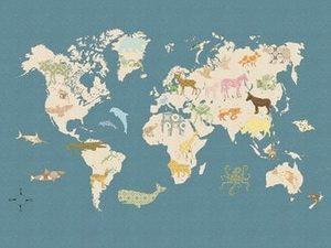 Inke WORLD MAP WALL PRINT