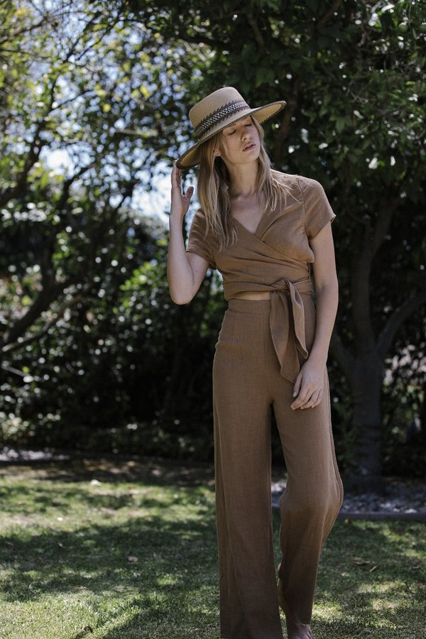 Six Crisp Days Simis Jumpsuit - Camel