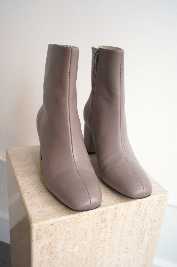 """""""INTENTIONALLY __________."""" Janetta Boot - Taupe"""