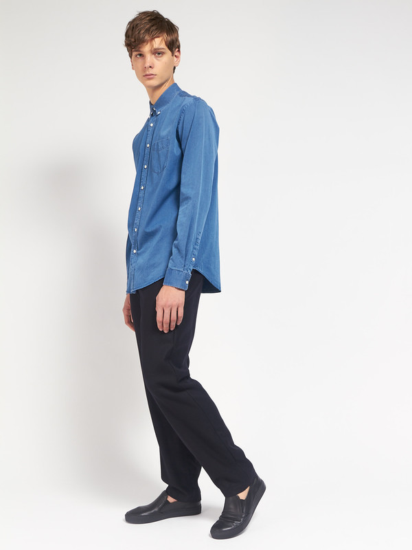 Men's Schnayderman Leisure Indigo Shirt