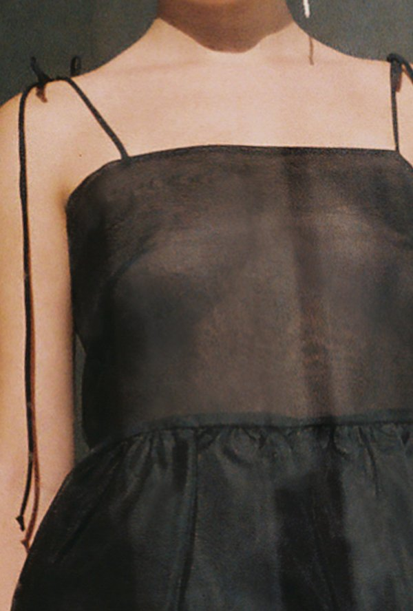 Kamperett Laurence Tiered Silk Organza Midi Dress - Black