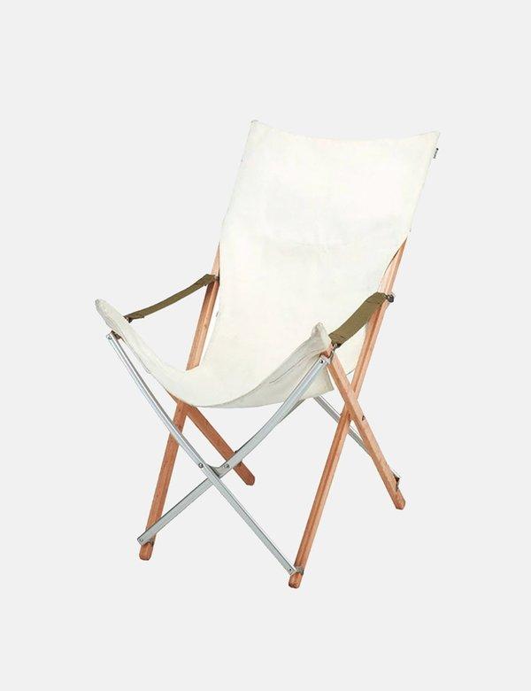 Snow Peak Take! Long Bamboo Chair - White