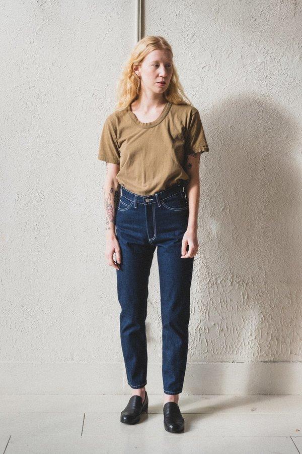 Shaina Mote Crop Jean - Dark Indigo