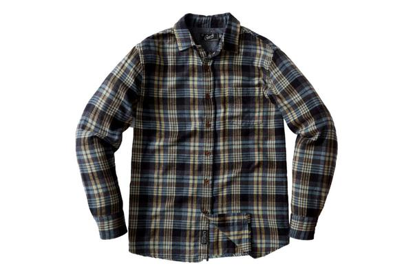 Grayers Sonora Light Weight Flannel Blue Haze - Black