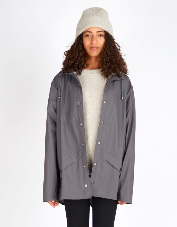 Rains Jacket Women's Smoke | Garmentory