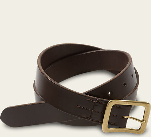 Red Wing Shoes Dark Brown Narrow Vegetable Tanned Leather Belt