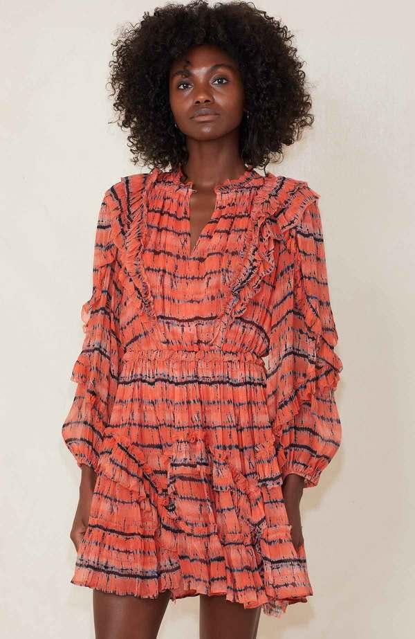 Ulla Johnson Aberdeen Mini Dress - Chili Tie Dye