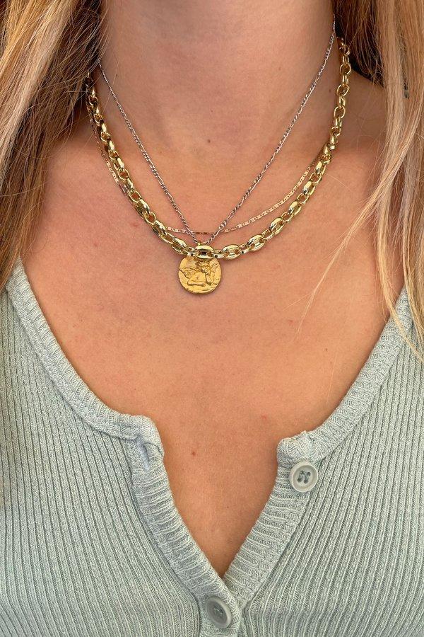 Machete Coffee Bead Necklace - Gold