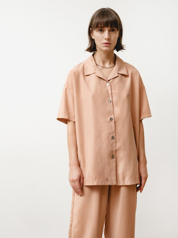 Priory Edition Modal Shirt - Dusty Pink