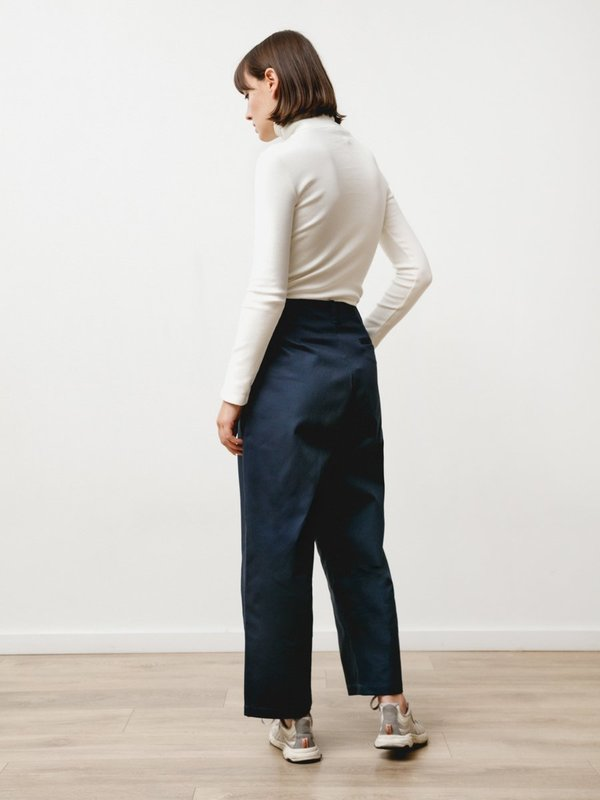 Priory Pleat Trouser - Canvas Twill Midnight